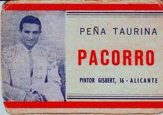 PEÑA TAURINA  PACORRO: Historia de la peña taurina PACORRO