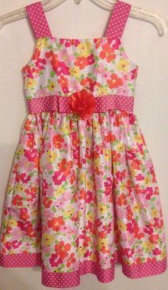 Youngland Size 6X Girls Sequins Dress Pink Red White Green Sleeveless Flowers #Youngland #ChurchDressyEverydayHolidayPageantParty #Dress #Sundress #GirlsFashion