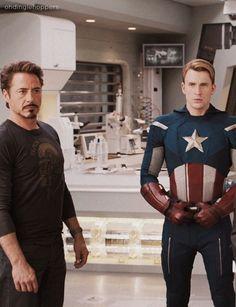 Iron Man (Tony Stark) and Captain America (Chris Evans) Ah, my favourite Marvel Heroes.