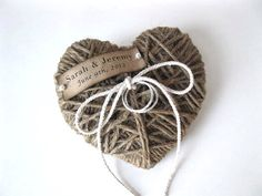 Wedding Ring Pillow/Holder heartstrings personalized name/date reuse as Ch - Iphone Ring Holder - Ideas of Iphone Ring Holder - Wedding Ring Pillow/Holder heartstrings personalized name/date reuse as Christmas ornament wedding decor Diy Wedding, Rustic Wedding, Wedding Gifts, Dream Wedding, Lace Wedding, Ring Holder Wedding, Ring Pillow Wedding, Wedding Ring, Ring Holders
