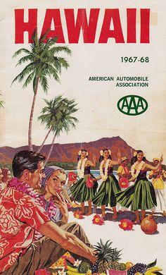 1967-1968 AAA Hawaii Travel Guide