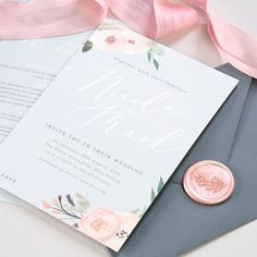 Ella wedding invitations, perfect for spring and summer weddings 💕. If you want to add wax seals or vellum wraps to your wedding stationery, please get in touch as they're not yet on our website. but we're planning to add them very soon! Wedding Invitation Packages, Affordable Wedding Invitations, Watercolor Wedding Invitations, Diy Invitations, Wedding Stationery, Simple Weddings, Summer Weddings, Minimalist Wedding, Spring Wedding