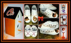 HAND PAINTED BIRDHOUSES, SHOES, GLASSWARE