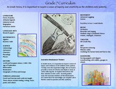 Grade 7 in Waldorf Inspired curriculum Los Angeles is for learning about Geography and Renaissance! The City School Alternative Private School. Thoughts On Education, Elementary Physical Education, Educational Thoughts, Waldorf Curriculum, Waldorf Education, Homeschool Curriculum, First Grade Lessons, School Grades, Seventh Grade