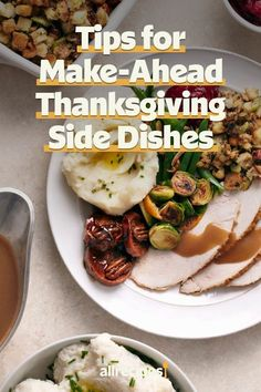 "Tips for Make-Ahead Thanksgiving Side Dishes | ""Nicole McLaughlin, aka NicoleMcmom, shares her best tips for making Thanksgiving side dishes ahead of time for a stress-free holiday."" #thanksgiving #thankgivingrecipes #thanksgivingsidedishes Potato Sides, Potato Side Dishes, Casserole To Freeze, Casserole Dishes, Thanksgiving Side Dishes, Thanksgiving Recipes, Make Ahead Gravy, Make Ahead Casseroles, Frozen Turkey"