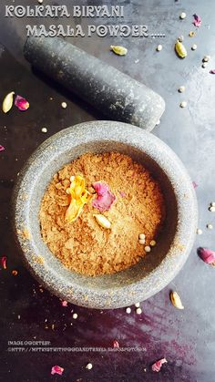My Tryst With Food And Travel: Kolkata Biryani Masala Recipe / Calcutta Style Bir. Masala Powder Recipe, Masala Recipe, Briyani Recipe, Veg Biryani, Indian Food Recipes, Ethnic Recipes, Kolkata, Chutney, Finger Foods