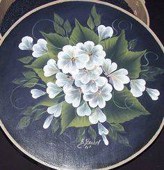 Hand Painted Floral Wooden Box by PublishedArtist on Etsy, $15.00