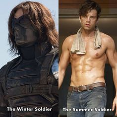 Sebastian' s bbbbody has surprised me.  Honestly .... this winter soldier is too Damn sexy