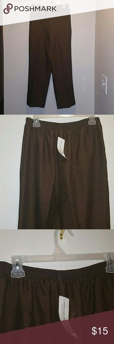 NWT Dress Slacks! NWT Alfred Dunner Size 8 Brown Dress Slacks. Style Short (Petite) Back has elastic waist and  two front hip pockets. Alfred Dunner Pants