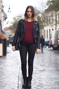 BURGUNDY IS THE NEW BLACK (by MODE ROSA) http://lookbook.nu/look/4304093-BURGUNDY-IS-THE-NEW-BLACK