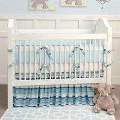Ocean Stripe Baby Bedding and Nursery Necessities in Interior Design Guide : All Baby Bedding at PoshTots