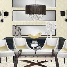 Interior Design EDesign EDesigner Mirror Dining by Blondiesloft, $145.00
