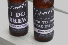 "Chalkboard Wedding Drink Labels - ""To have and hold and to drink while it's cold."""