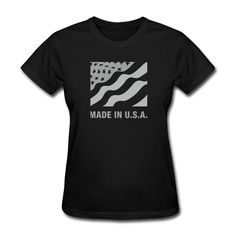 >> Click to Buy << Women Made in USA Cool Dry short sleeve T Shirts casual Black #Affiliate