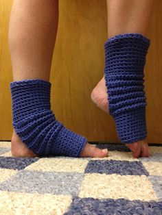 Yoga Socks in Morning Glory Bluse Cotton US by CarrotCreations, $12.00