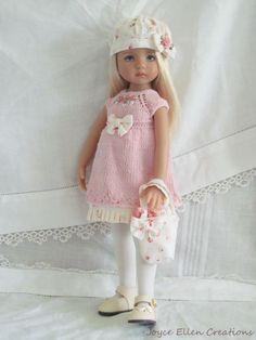 "13"" Effner Little Darling BJD fashion pink knit dress set OOAK handmade by JEC #ClothingAccessories"