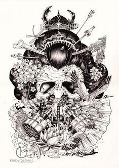Superbes ilustrations et doodles par Kerby Rosanes (image)