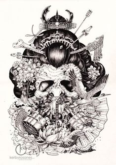 Superbes ilustrations et doodles par Kerby Rosanes