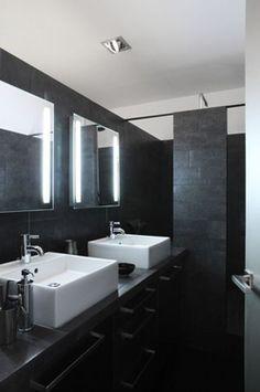 sous pente idée douche italienne | Salle de bain | Pinterest