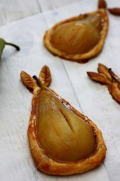 Tartelettes feuilletées aux poires et confiture de lait