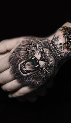 30 Best Of Hand Tattoo Ideas Tattoo Designs 10 Tattoos 3d, Lion Head Tattoos, King Tattoos, Dope Tattoos, Best Sleeve Tattoos, Badass Tattoos, Tiger Tattoo, Arrow Tattoos, Body Art Tattoos