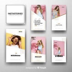 Instagram stories template Free Vector Instagram Design, Layout Do Instagram, Instagram Story Template, Instagram Templates, Web Design, Graphic Design Layouts, Social Media Design, Template Free, Banner Design Inspiration