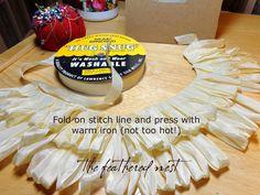 how to create seam binding fringe