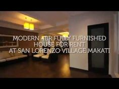 Modern Fully Furnished House For Rent At San Lorenzo Village Makati Cozy Living, Living Area, Enjoy Your Weekend, Real Estate Houses, Makati, Kitchen Layout, Home Theater, Renting A House, San