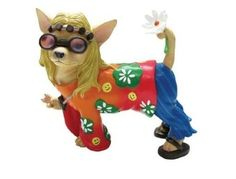 Westland Aye Chihuahua Flower Child Chihuahua Collectible Figurine - http://collectiblefigurines.net/aye-chihuahua/westland-aye-chihuahua-flower-child-chihuahua-collectible-figurine/