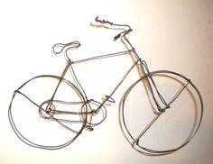 Carolina Creations | Wire Bike 3 d hanging sculpture | Fine Art Contemporary Gift Gallery