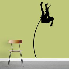 Sweetums Female Pole Vaulter Wall Decal
