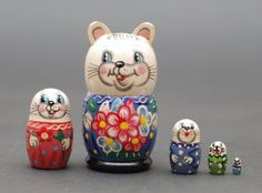 Matryoshka nesting doll mouse Free shipping Worldwide by artmatryoshka for $39.90