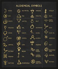 Alchemy Symbols What's your fav? Manifest your dream life Now and get your dream life And get All what you want Wiccan Spell Book, Witch Spell, Wiccan Spells, Magick, Pagan, Witch Symbols, Alchemy Symbols, Magic Symbols, Witchcraft Symbols