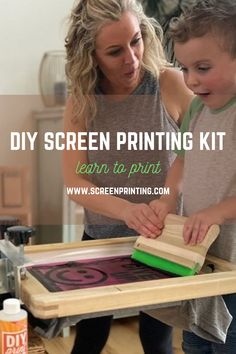 The DIY Print Shop™ Original T-Shirt Screen Printing Kit will bring all your T-Shirt ideas to life and can turn fun into profit. Whether you're a beginning screen printer, starting a small business, or simply screen printing for fun, the DIY Print Shop™ Original T-Shirt Kit is Made To Make It™ happen. Diy Screen Printing Kit, Screen Printer, Make Your Own Tshirt, Creative Christmas Gifts, Diy Kits, Shirt Ideas, Cricut, Business, Fun