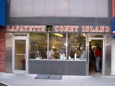 The best coney dogs!  Go straight to downtown Detroit  (don't bother looking on Coney Island, in N.Y. . .)