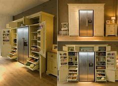 Kitchen:Contemporary Kitchen Design Ideas With Storage Kitchen Space Solution Combine With Storage Space On Your Plan And Stools Buffet Table Lamps Also Wooden Wall And Tile Floor Contemporary Kitchen Design Ideas: Storage Kitchen Space and Solutions