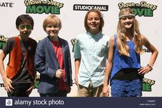 Download this stock image: Shaun The Sheep Movie 2015  Featuring: Aides Gallagher, Casey Simpson, Mace Coronel, Lizzy Greene Where: Westwood, California, United States When: 01 Aug 2015 - F3ABP0 from Alamy\'s library of millions of high resolution stock photos, illustrations and vectors.