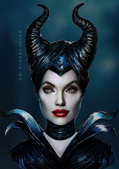 Maleficent Portrait + Video by ZombieSandwich.deviantart.com on @deviantART