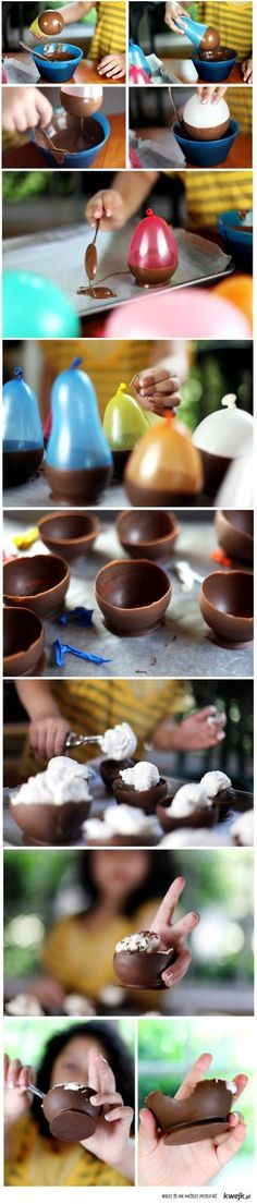 D.I.Y. chocolate bowls