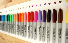 color, colorful, hearts, marker, sharpie