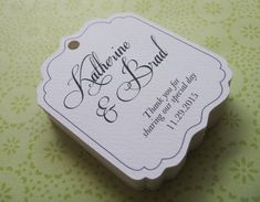 Warmest Thanks Thank You Wedding Favor Tag Flourish Square ...