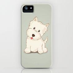 Westie Dog Illustration iPhone & iPod Case