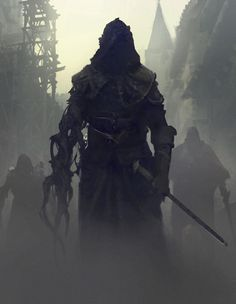 "The Assassin ""His face was bathed in shadow. There were no visible features underneath the hood, but Owen felt that within the black nothingness that obscured his face, two eyes were staring at him."""