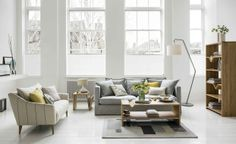 Planning a neutral colour scheme? Grey is the perfect choice for a timeless living room design scheme. Image by Marks & Spencer.