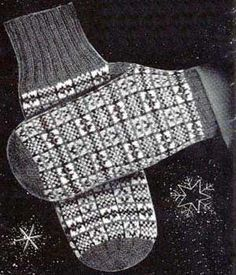 Men's Fair Isle Mittens | Free Knitting Patterns