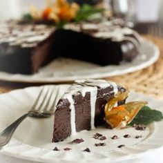 Rich Yet Healthy Flourless Chocolate Cake   by Sonia! The Healthy Foodie