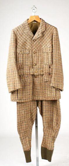 Hunting suit, circa 1890-1900 via The Costume Institute of the Metropolitan Museum of Art