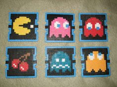 Gotta try this! Pacman pearler beads / hamma beads coasters @ Instructables!