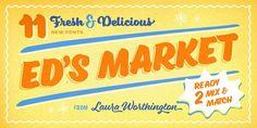 Ed's Market Font Family by Laura Worthington