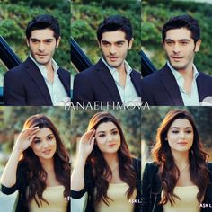 """""""You look different. How do I look different? I look like this everyday."""" """"You look happy. Romantic Love Couple, Romantic Couples, Cute Couples, Best Actress, Best Actor, Tv Actors, Actors & Actresses, Murat And Hayat Pics, Cute Love Stories"""